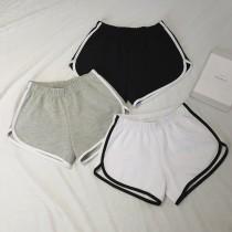 【預購】條紋棉質休閒運動居家短褲~3色