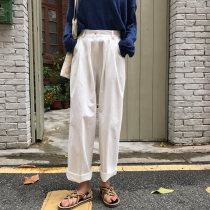 【預購】大長腿褲系列.高腰純色寬褲~2色