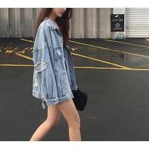 【預購】復古拼接風牛仔外套