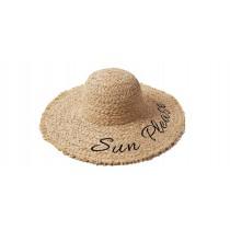【預購】Sun Please!刺繡字母渡假風大草帽