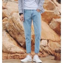 【預購】男款韓版九分直筒牛仔褲~2色