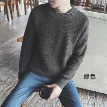 【預購】韓風暖男圓領針織衫毛衣~6色