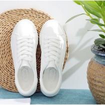 【預購】好穿的小白鞋永遠不嫌多.全白皮質柔軟小白鞋(35~40)