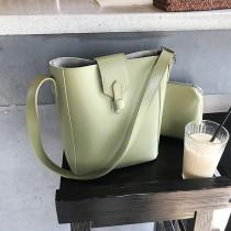 【預購】韓IG 簡約設計感磁扣水桶子母包~3色