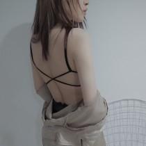【預購】微性感蕾絲後背交叉小可愛內衣~2色
