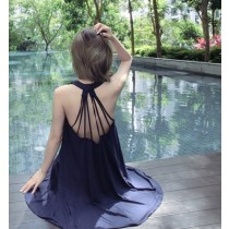 【預購】春夏性感風美背吊帶莫代爾家居服睡衣沙灘裙~3色