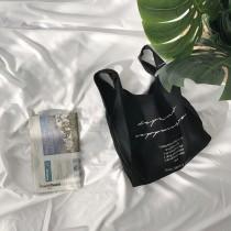 【預購】減塑行動.超有型文藝風簡約棉麻手提購物袋~4色