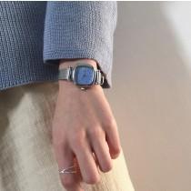 【預購】復古文藝風.米蘭風錶帶方型錶~3色