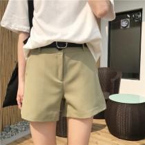 【預購】學院風簡約高腰純色短褲~3色