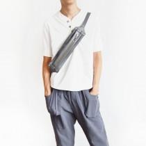 【預購】手做系列.男女可用頭層牛皮運動包腰包~3色