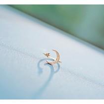 【預購】韓國星月鋯石可微調開口戒指~2色